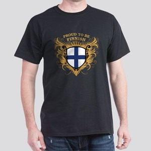 Proud to be Finnish [back print] Dark T-Shirt